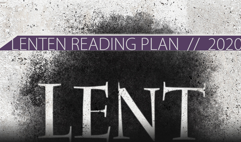 LENTEN READING PLAN